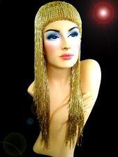Gold DRAG QUEEN Beaded  Gay Cabaret Fancy Cher Bead Wig