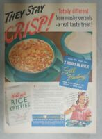 Kellogg's Cereal Ad: They Stay Crisp ! from 1939 Size: 11 x 15 inches