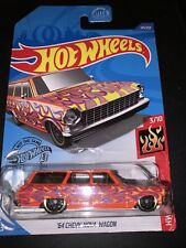 Hot Wheels 64 Chevy Nova Wagon Orange Flames 3/10