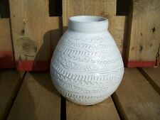 Vase Agra Blumentopf Ib Laursen weiß 17 cm Blumen shabby Ton 3602-11 Töpferei