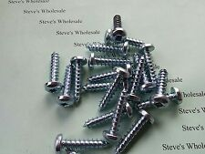 "# 12 x 1"" Sheet Metal Tapping Screws Pan Head Square Drive ZP Lot of 500"