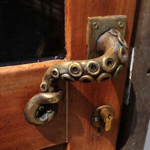 Front Door Entry Handle Easy Install Octopus Shape Exquisite Modern for Garages