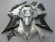 Grey Silver Fairing Kit Fit Yamaha YZF R1 2002-2003 ABS Injection Bodywork Frame