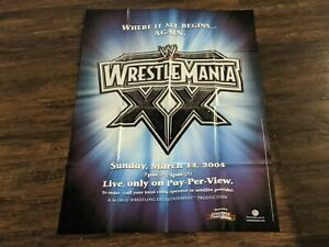 "WWE WRESTLEMANIA XX 20 PPV Event Poster Large 24"" x 36"" Madison Square Garden"