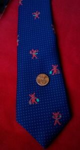 Christmas Reindeer Gift Blue Green Dots Holiday  Tie  New Mens Ladies