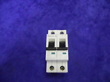 USED WORKING MOELLER FAZ-2-C16 CIRCUIT BREAKER 2 POLE 16 AMP 415 VAC