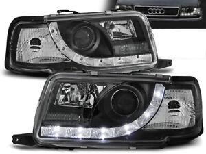 Headlights for Audi 80 B4 1991 1992 1993 1994 1995 1996 VR-1121 Daylight Black