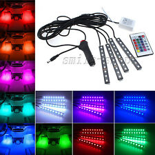 Glow LED Interior Car Kit Under Dash Footwell Accent Light Full Color Waterproof