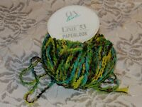 NEW On Line LINIE 53 Blue Green Nylon Cotton Yarn Made in Italy 50 g 3 301