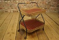 60er Servierwagen Barwagen Tablett Teewagen Bar Vintage Beistelltisch 50er