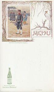 """menu source badoit """"  soldat de la garde impériale japonaise"""""""