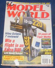 RC MODEL WORLD MAGAZINE OCTOBER 2001 - 70 YEARS OF TIGER MOTHS