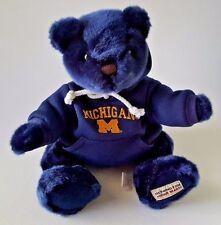 7c657107c630f MICHIGAN WOLVERINES STUFFED PLUSH TEDDY BEAR W  BLUE LOGO HOODIE 13