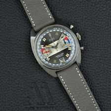 KINAX Valjoux 7734 vintage CHRONOGRAPH Stainless Steel 36mm HANDWOUND 70s Rallye