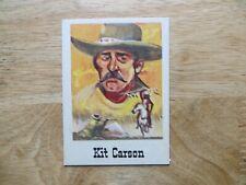 1966 VINTAGE LEAF GOOD GUYS AND BAD GUYS BUBBLE GUM CARD # 38 KIT CARSON