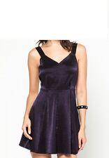 NWT $128 BCBG Dress Dark Violet cocktail Seamed Skirt Dress  SZ 4