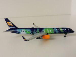 ICELANDAIR HEKLA AURORA Boeing 757-200 1/500 Herpa 529129 757 Iceland TF-FIU
