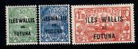 Wallis und Futuna 1927 Yv. 40-42 Ungebraucht * 100% Aufdruck