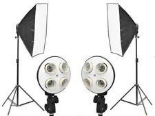2 x Reflektorschirme Photoset Softbox 8x Fassungen Diffusor Foto Studiolicht Kit