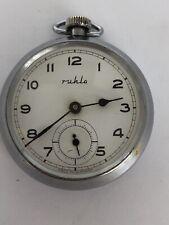 Reloj de Bolsillo Mecánico Ruhla De Colección De Caballeros