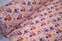 "12 Yds Lt.Pink Baby Kitten Print Quilt Fabric Craft Apparel Upholstery 45""W #110"