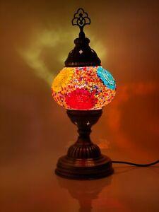 Turkish Moroccan Mosaic Lamp Tiffany Glass Desk Table Lamp