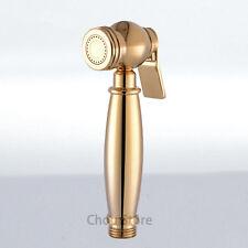 Gold Polished Bidet Douche Shattaf Hand Held Hygiene Shower Head Brass Sprayer