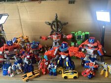 transformer toys lot One Talking Optimus And A Talking Bumblebee