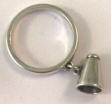 ❤️JAMES AVERY ~ MEGAPHONE DANGLE RING  📣  CHEERLEADER CHARM ~ SZ 6¾ ~ W/ BOX❤️