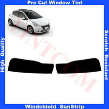Pre Cut Window Tint Sunstrip for Peugeot 208 5 Doors Hatchback 2012-.. Any Shade