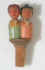 Anri Vintage Wine Cork Mechanical Bottle Stopper Kissing Couple
