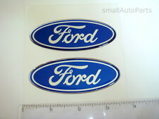 2 NEW FORD hood/back/trunk domed EMBLEMS blue/chrome logo badge tempo gt taurus