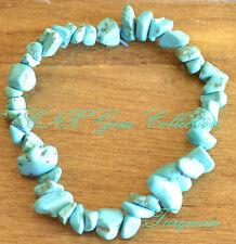 Tumbled Gemstone Crystal Turquoise Bracelet Birthstone of Sagittarius Nov Dec