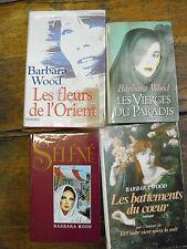 Barbara Wood Séléné Les vierges du paradis Les fleurs d'orient Les battements du