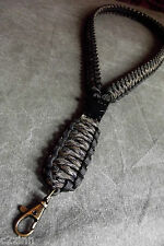 Paracord Neck Lanyard / Survival Strap in Classic Camo 550 By Casey''s Creations