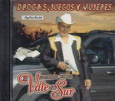 Antonio Viera El Vale Del Sur Drogas Juegos Y Mujeres CD New Nuevo Sealed