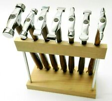 7 Piece Mini Hammer Set with Stand Jewelry Making Tool Metal Forming Texturing