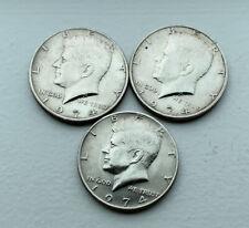 1974 Philadelphia Kennedy Half Dollar Coins Lot of 3