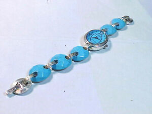 Ladies Sterling Silver & Turquoise Ecclissi Watch