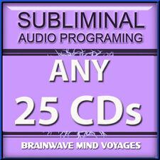 ANY 25 CDs Subliminal Hypnosis Hemi Brain Wave Mind Sync MEDITATION ENHANCEMENT