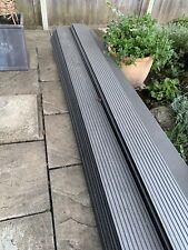 More details for hollow composite decking. 26 x 2.8 metre lengths. dark grey
