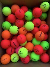 100 Callaway Matte SuperSoft & SuperHot Color Golf Balls 3A-4A (AAA-AAAA)