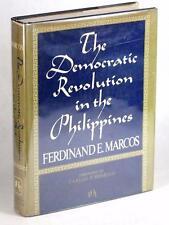 SIGNED FERDINAND MARCOS 1974 THE DEMOCRATIC REVOLUTION IN THE PHILIPPINES HC DJ