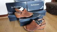 BELLISSIMO WOMENS PEWTER SHOES SIZE UK 7 / EU 40 .