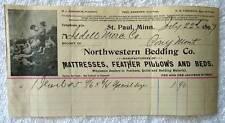 1897 BILLHEAD NORTHWESTERN BEDDING CO MINNESOTA PONY MONTANA #87