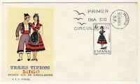 "ESPAGNE / SPAIN / ESPAÑA - 1969 - TRAJES TIPICOS ""LUGO"" Mi.1815 FDC"