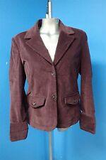 05507 Lady Hathaway Soft Stretch Corduroy Women's Plum Blazer Jacket S