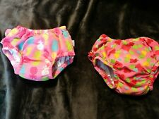 Lot Of 2 Girl Washable Swim Diapers Size Small And medium