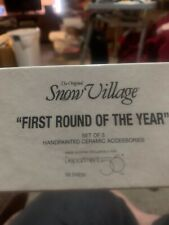 Dept 56 The Original Snow Village First Round of the Year 56.54936