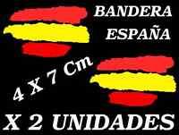 2 X Bandera España Spain Vinilo adhesivo Pegatina Sticker Coche Moto Tunning